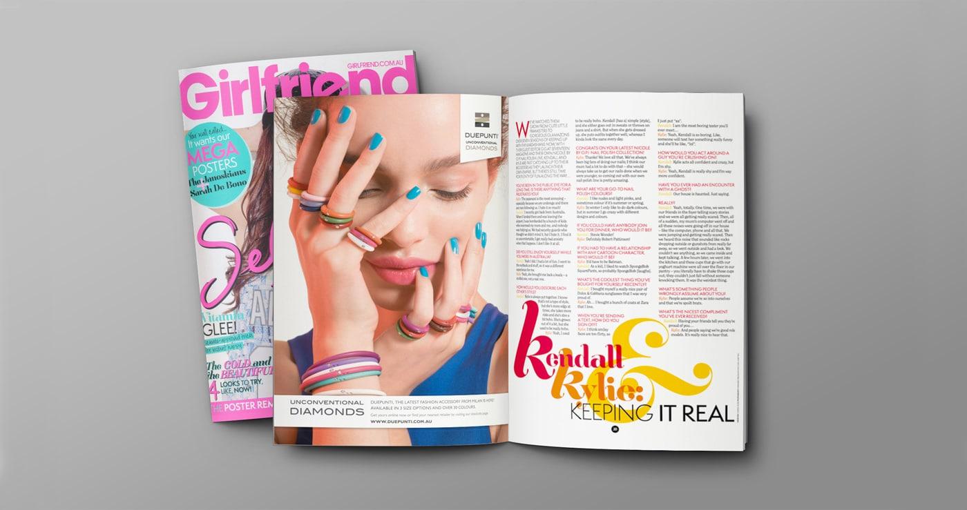 Duepunti Australia - Print - Girlfriend Magazine