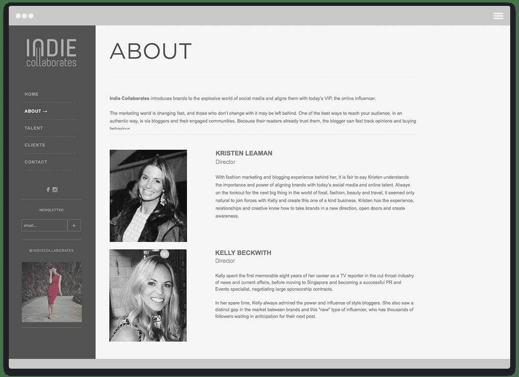 Indie Collaborates - Website Design