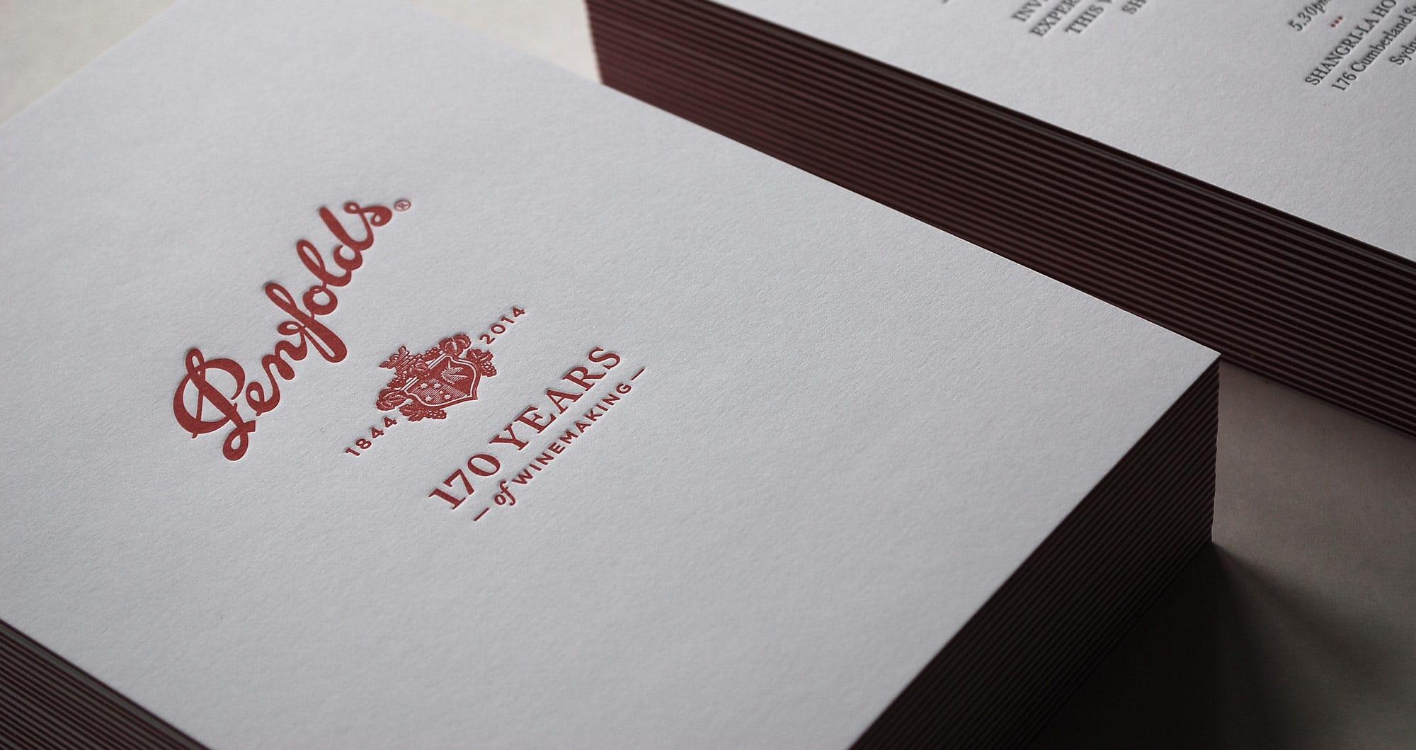 Penfolds Letterpress Print Design