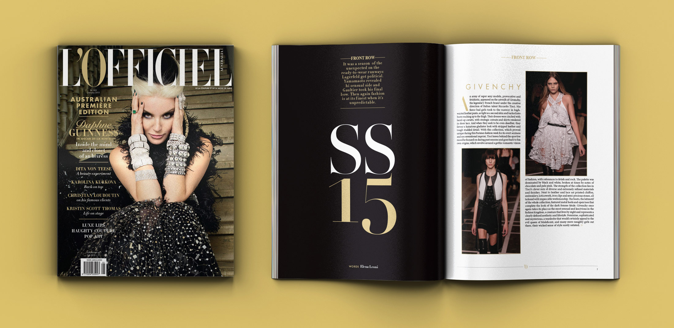 LOfficiel Australia launch issue - Print Design