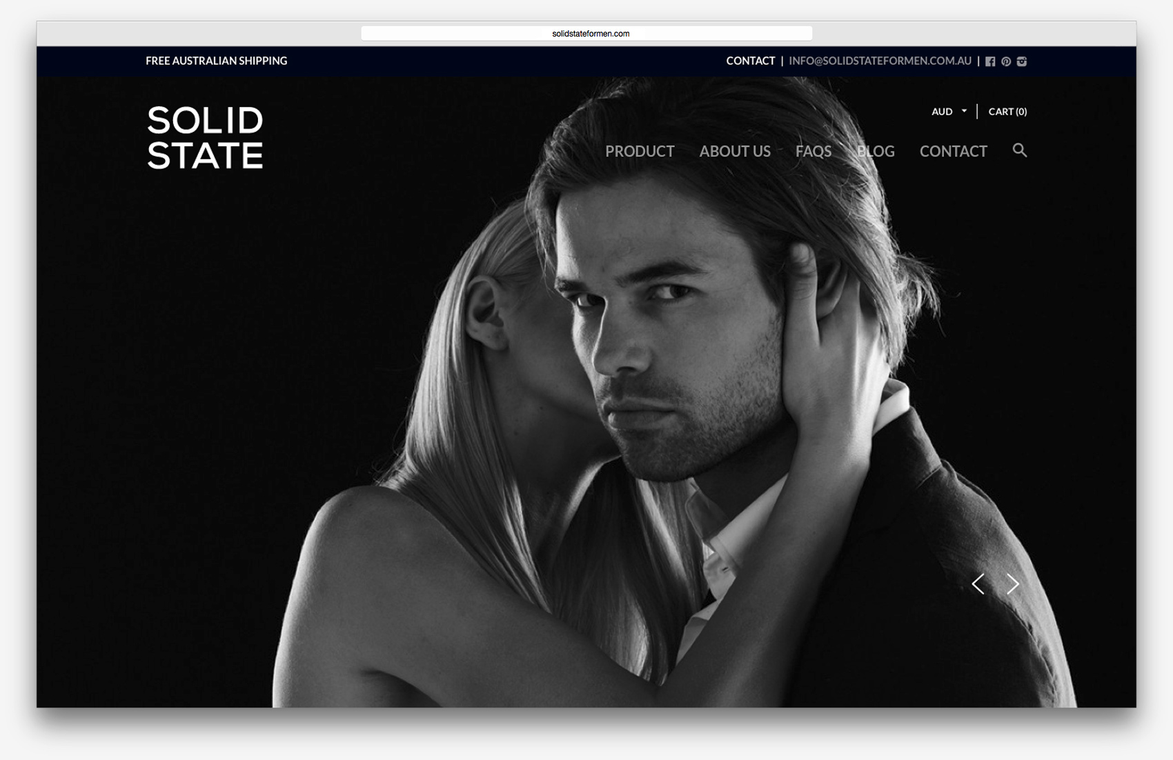 Solid State Cologne - Branding, packaging and website design