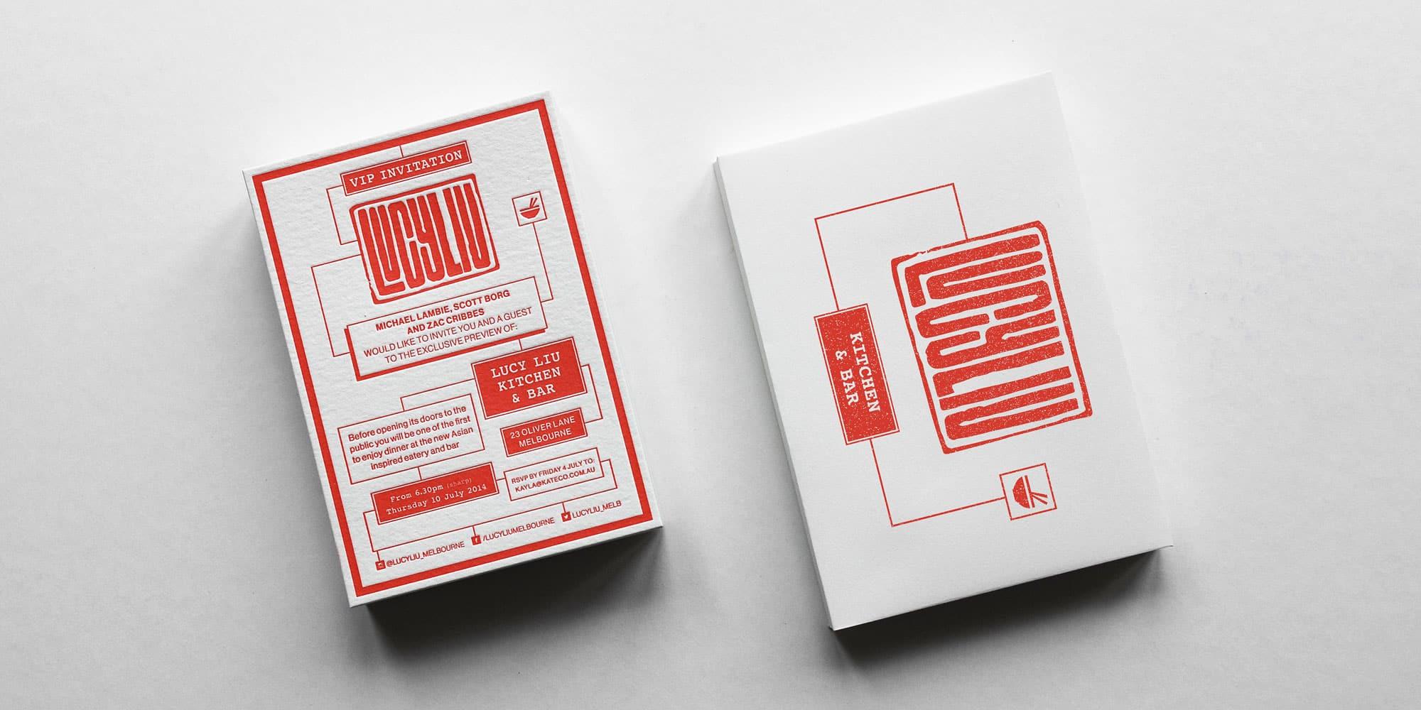 Lucy Liu - Letterpress Print Design
