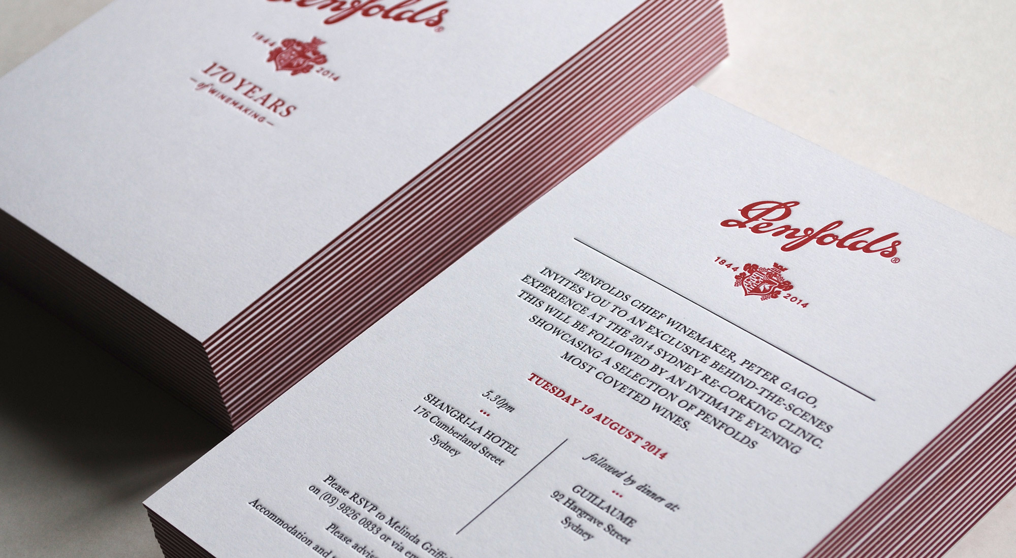 Penfolds - Re-corking Clinic letterpress print design