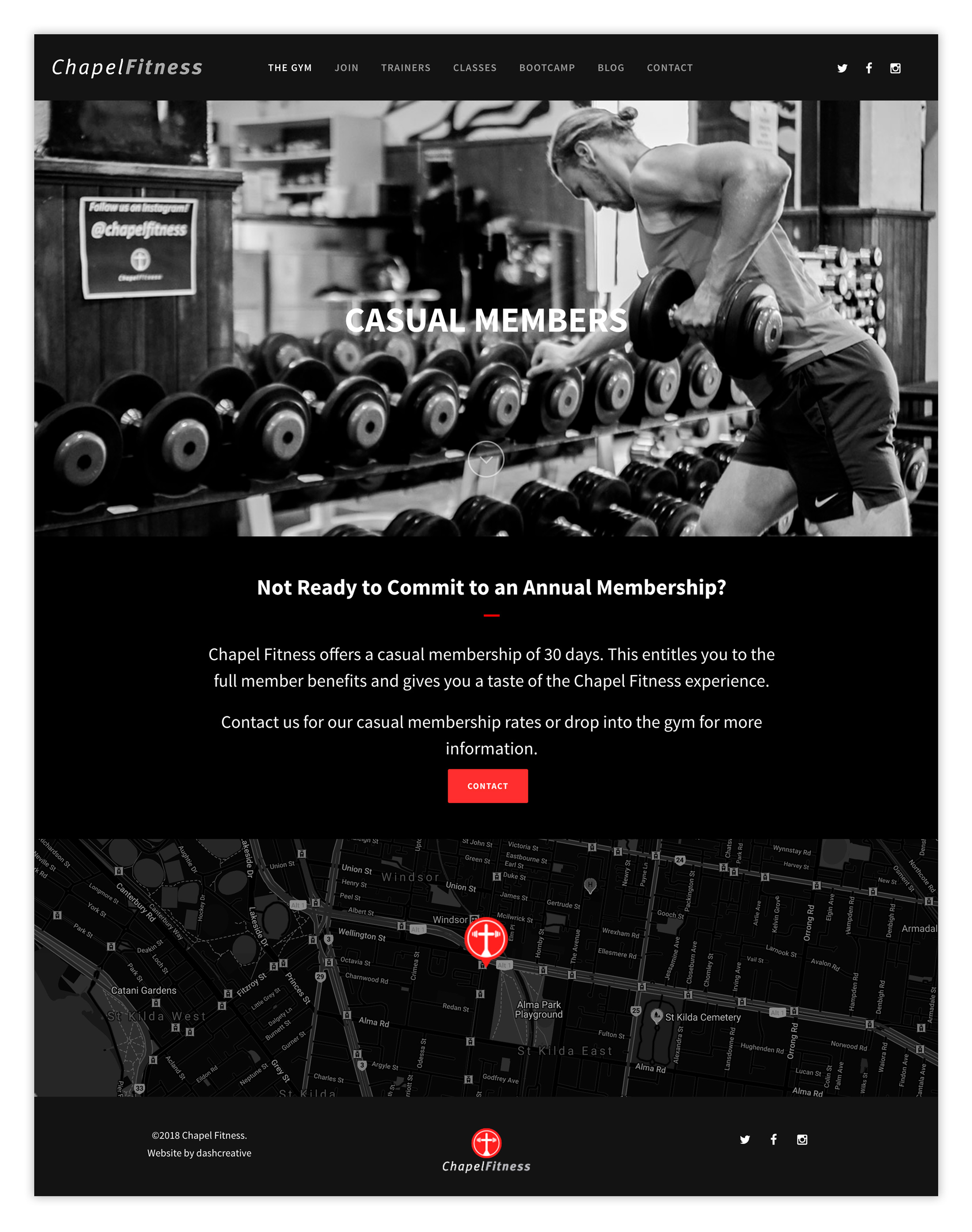 Chapel Fitness - Website Design