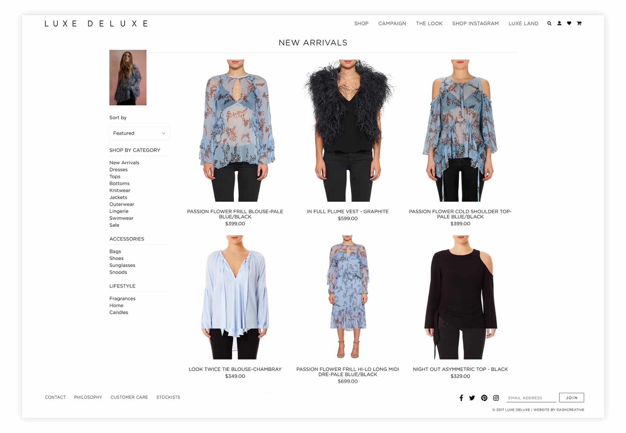 Luxe Deluxe - Website Design