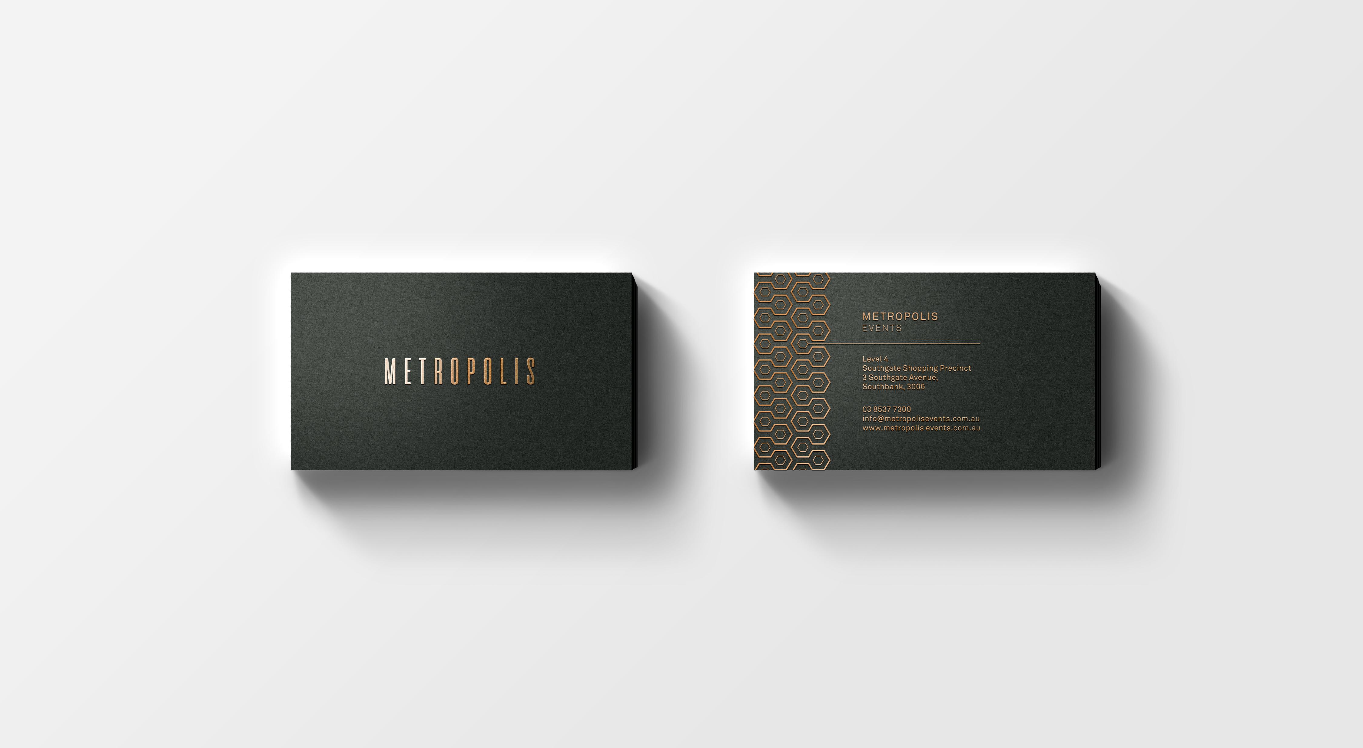 Metropolis Events - Branding and Website Design