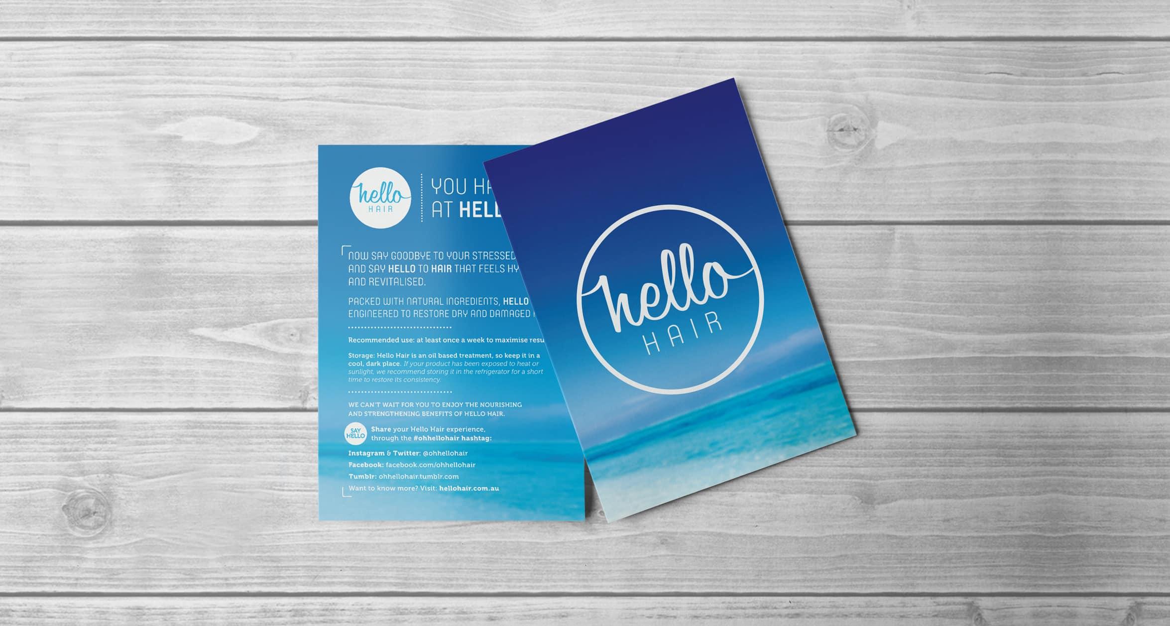 Hello Hair - Print Design