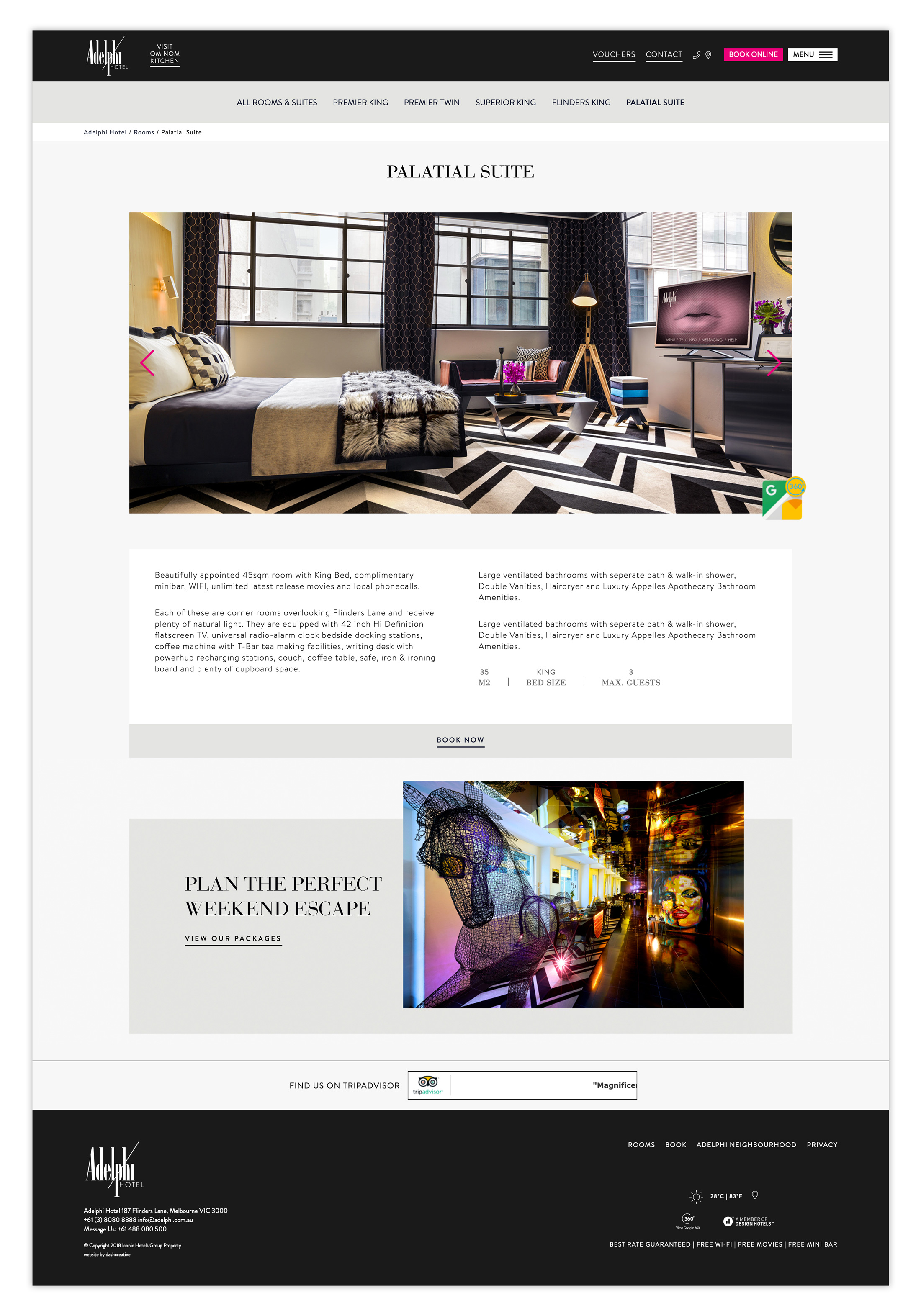 Adelphi Hotel - Website Design