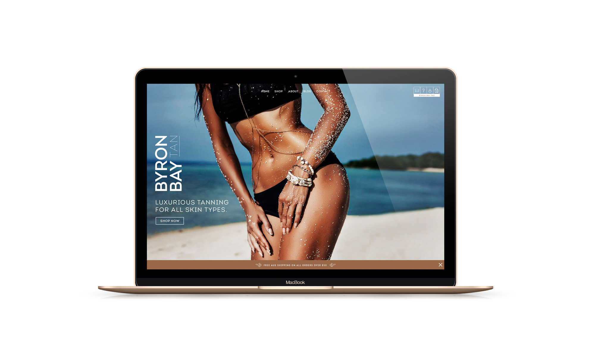 Byron Bay Tan - Website Design