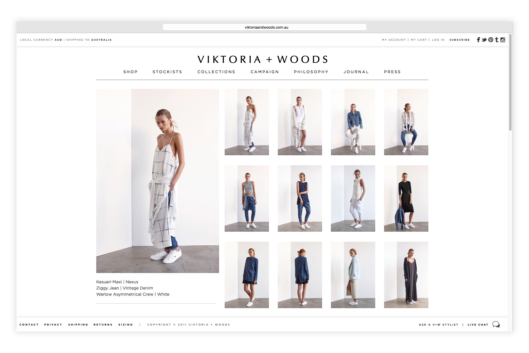 VIKTORIA + WOODS Website Design